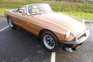 MGB LE ROADSTER 1981 PX COVERED ONLY 33,000 MILES FROM NEW