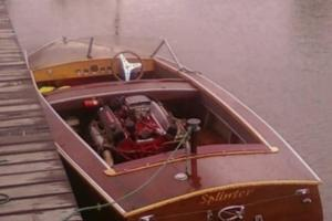 Vintage Bondwood V8 Speed Boat 292 Y Block Customline Hotrod  Photo
