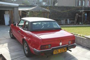 1981 RELIANT SCIMITAR GTC MANUAL RED