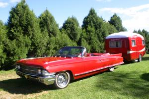 Cadillac Convertable 1962 With Matching 1962 Sunliner Caravan Retro