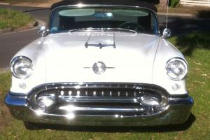 1955 Oldsmobile Convertible Rocket 88 Holiday Coupe NOT Chev Buick Ford Dodge V8  Photo