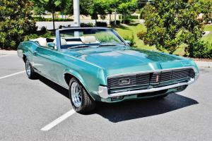 True 1 owner 56460 miles 1969 Mercury Cougar XR7 Convertible 1st title from 69