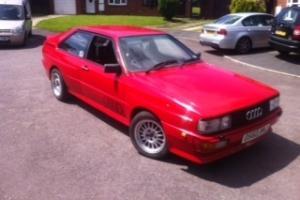 1987 AUDI QUATTRO Turbo RHD RED WR