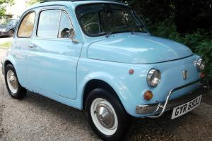 1971 FIAT 500 - Rare Right Hand Drive - Immaculate Show car - YEARS MOT