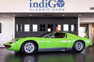 Restored 1969 Lamborghini Miura P400S SV Specification Verde Lime Green s/n 3952 for Sale
