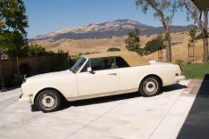 1987.5 Rolls Royce Corniche II Convertible, Only 28K Magnolia W/Tan, Gorgeous!