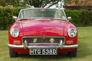 MGB Roadster 1966 Tartan Red, Chrome Wires, 11 months Tax and MOT