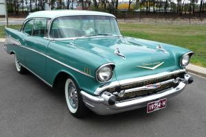 57 Chev 1957 Chevrolet 2 Door BEL AIR Pillarless Sports Coupe