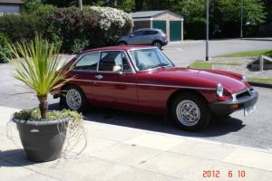 MGB GT coupe 1978 damask red in great original condition with sensible mods
