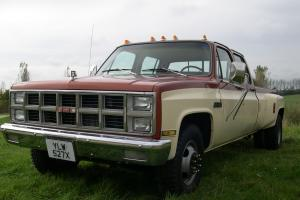 1982 GMC CHEVY C3500 6.5 TURBO DIESEL DUALLY CREW CAB FULL SIZE PICK UP ,NEW MOT