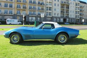 1971 Chevrolet Corvette Stingray Convertible Mulsane Blue Original CAR 350 Chev