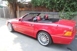 1991 MERCEDES 300SL AUTO RED