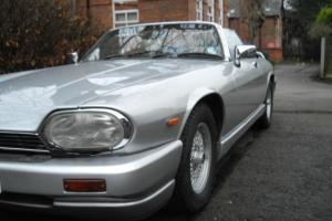 1990 JAGUAR XJ-S CONVERTIBLE AUTO silver /BLUE .