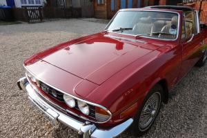 Triumph Stag convertable, 1978, V8, 3 Litre, Manual O/D, original engine, Red