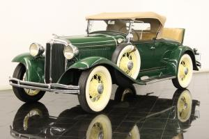 1931 Chrysler 6CM Deluxe Sport Roadster Rumble Seat 217ci 6 Cylinders 3-speed