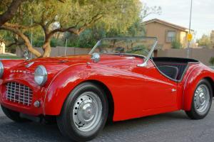 1958 Triumph TR3A, Red British Roadster, Smallmouth Apron, FUN!!!