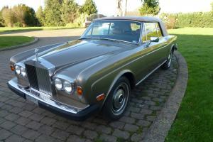1978 Rolls Royce Corniche Convertible LEFT HAND DRIVE.