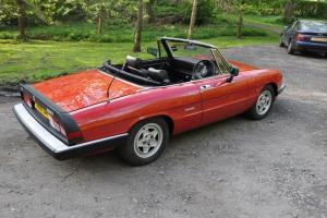 1989 ALFA ROMEO SPIDER S4 RED