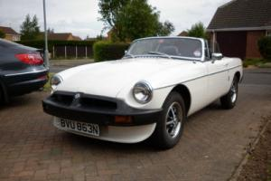 VERY LOW MILEAGE 1974 MGB ROADSTER WHITE