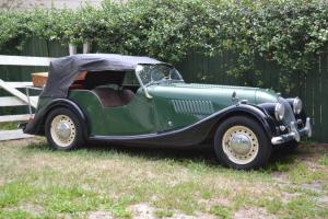 Private owner Morgan Plus 4 4-seater, British Racing Green with Black wings