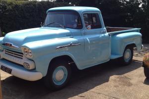 Chevy Apache 58 stepside truck right hand drive.stunning.hotrod.tax mot exempt  Photo