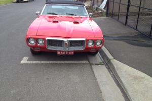 Pontiac Firebird 1969 Collector Classic Rare Cheap Investment Right Hand Drive