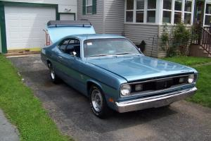 340 Duster*Automatic*Rotisserie Restoration just completed*Ice Blue Poly