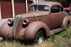 1936 Hudson 5 window coupe original suicide doors barn find Photo