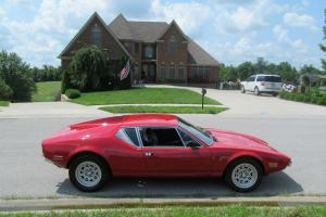 1972 DeTomaso Pantera Base RED BLACK INTERIOR 43,906 ACT MILES Photo