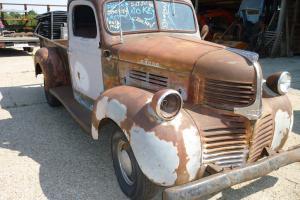1946 Dodge stepside pickup art deco WW2 hotrod truck project