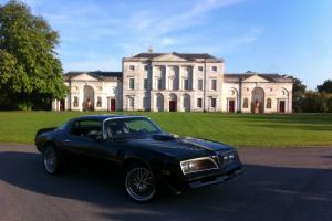 A REAL 1977 PONTIAC TRANS-AM 6.6/V8 T-TOP BLACK/GOLD NEW ENGINE