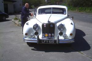 JAGUAR MK VIIM WHITE CLASSIC CAR 1955 TAXED(FREE) AND MOT