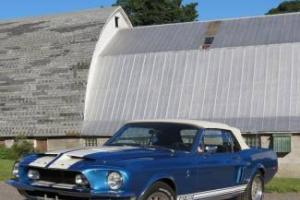 1968 Blue GT500! Convertible Power Top, PS, PB 428-cid