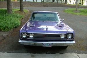 Plum Crazy 1967 GTX clone.