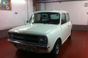 1979 AUSTIN MORRIS MINI CLUBMAN WHITE, ONLY 18077 MILES , RESTORED, IMMACULATE