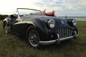 1956 Triumph TR3 BRG Excellent, No Rust!