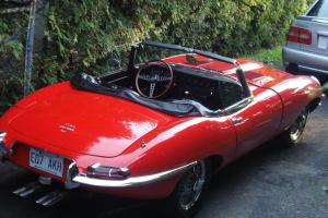 Vintage Jaguar convertible  (Red) XK-E 1968