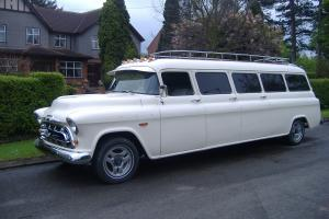 1957 (Chevy) Chevrolet Suburban Limo Limousine streched from new american car