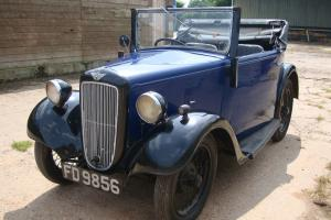 Austin 7 Opal Tourer convertible - 1937 - Blue over Black - in Great condition