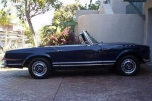 1967 MERCEDES BENZ 250 SL CLASSIC ROADSTER BLUE BEAUTY JUST SERVICED GREAT FIND