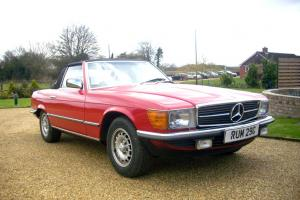 Mercedes Benz 280SL (Automatic) Convertible (soft-top) Red