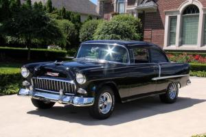 1955 Black Beauty Chevy Restomod Restored Show Car TPI