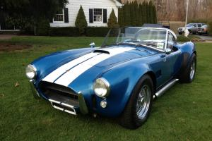 Blue with White Racing Stripes. Photo