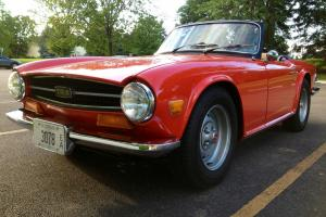 Beautiful Red 1974 Triumph TR6 Convertible