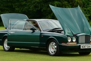 1994 Bentley Continental R. 14 Main dealer stamps.  Photo