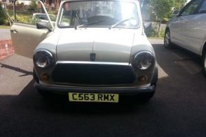 1985 AUSTIN MINI 1000 CITY E AUTO WHITE CLASSIC CAR LOW MILES