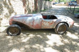 1950s aluminium racing car, has been registered on the road before.
