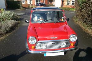 1991 Classic Mini Mayfair Red with spotlights, recently rebuilt MOT