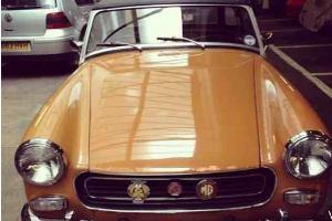 Beautiful 1975 MG Midget Harvest Gold Classic