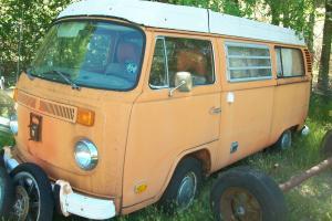 1974 VW WESTFALIA CAMPER VAN VOLVO ENGINE CONVERSION VERY COOL EASY PROJECT  Photo